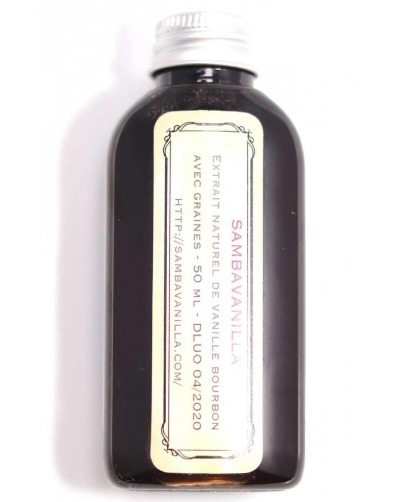 Extrait naturel de vanille avec graines