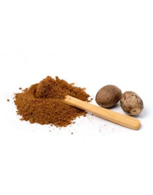 Grounded nutmeg powder