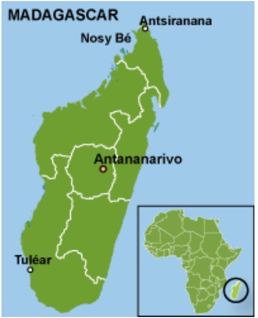 map of Tulear Madagascar