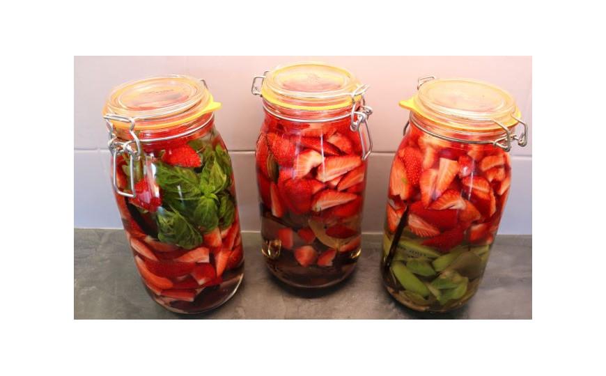 Trilogie de rhums arrangés fraises
