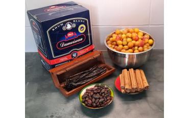 Mirabelles plums arranged rum